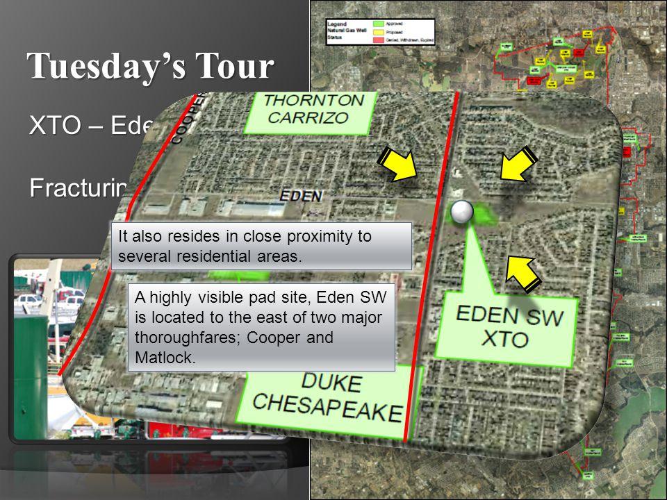 Tuesdays Tour XTO – Eden SW Fracturing (Fracking) Travel to the Duke site