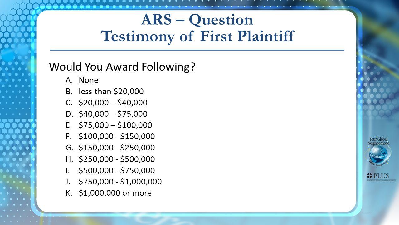 Would You Award Following.