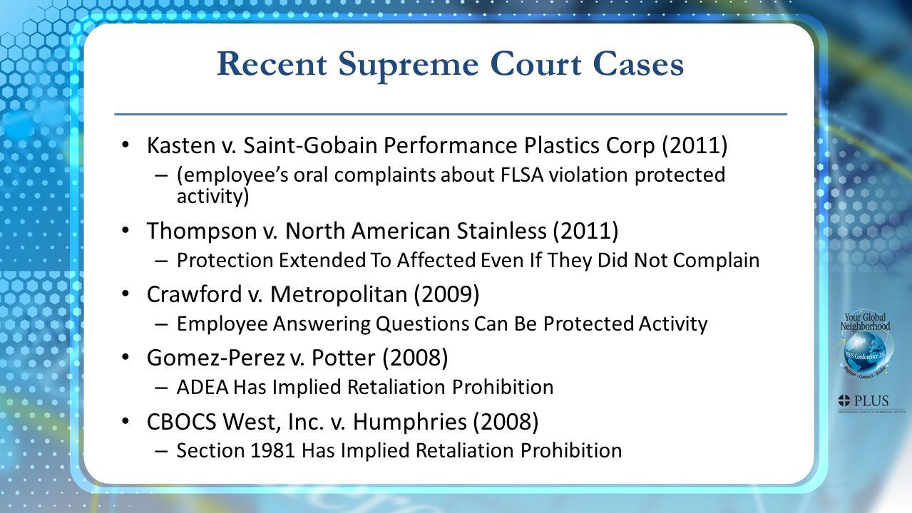 Recent Supreme Court Cases Kasten v.