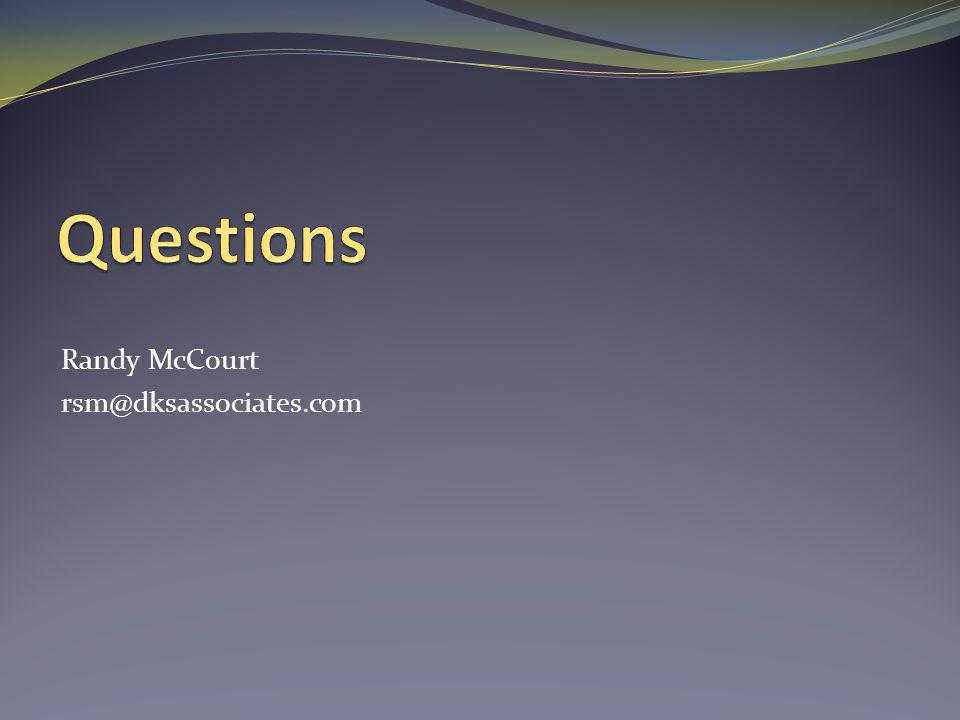 Randy McCourt rsm@dksassociates.com