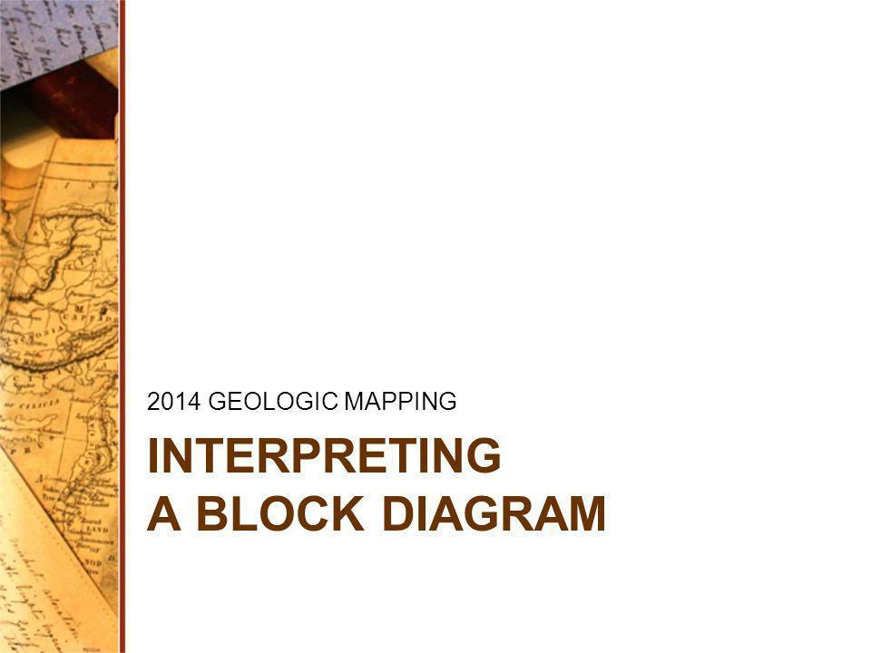 INTERPRETING A BLOCK DIAGRAM 2014 GEOLOGIC MAPPING