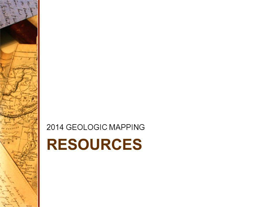 RESOURCES 2014 GEOLOGIC MAPPING
