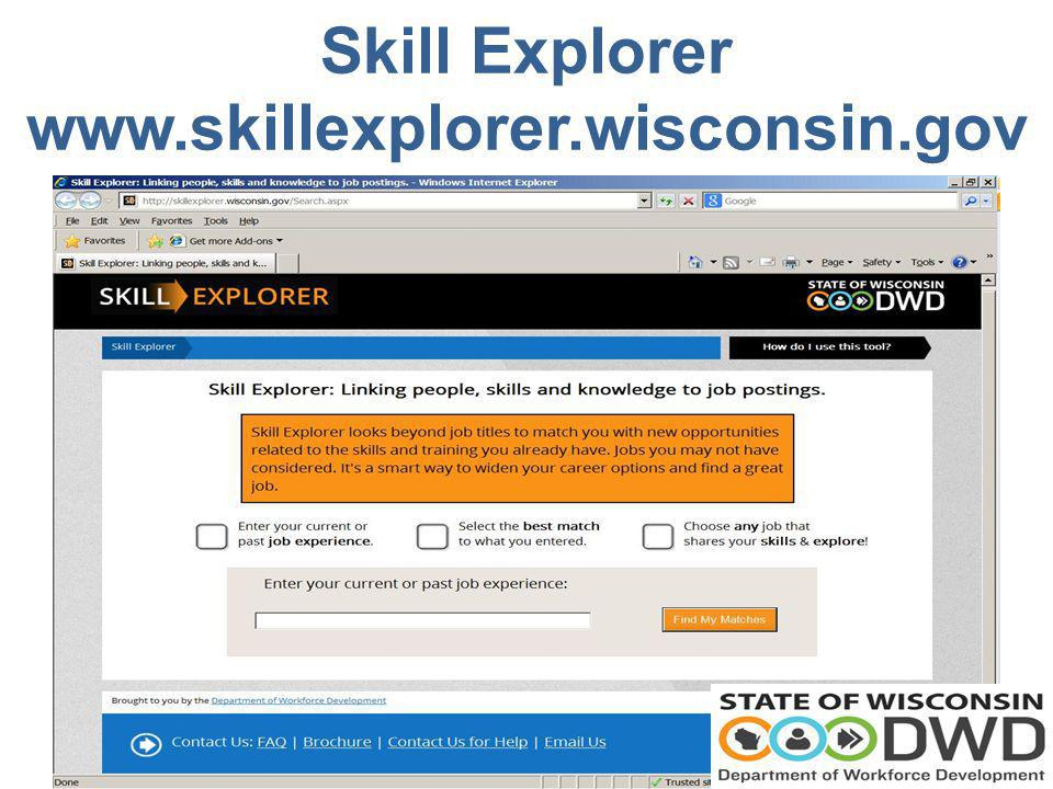 Skill Explorer www.skillexplorer.wisconsin.gov