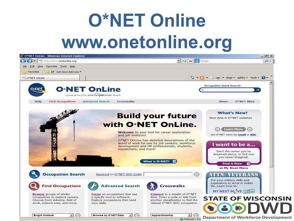 O*NET Online www.onetonline.org