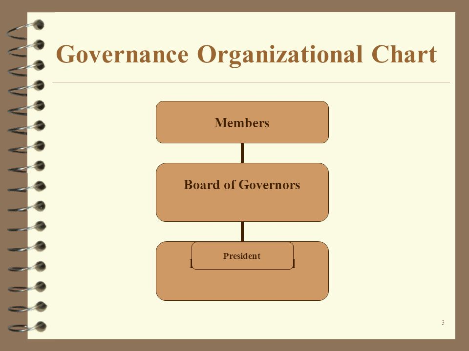 3 Governance Organizational Chart Members Board of Governors Executive Council President