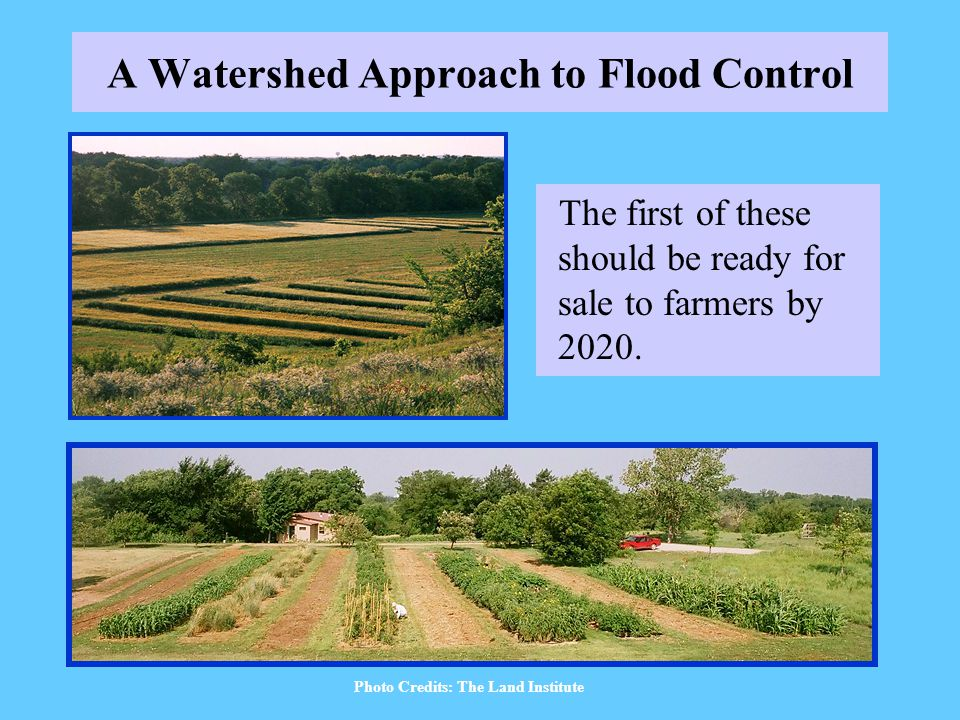 A Watershed Approach to Flood Control The first of these should be ready for sale to farmers by 2020.