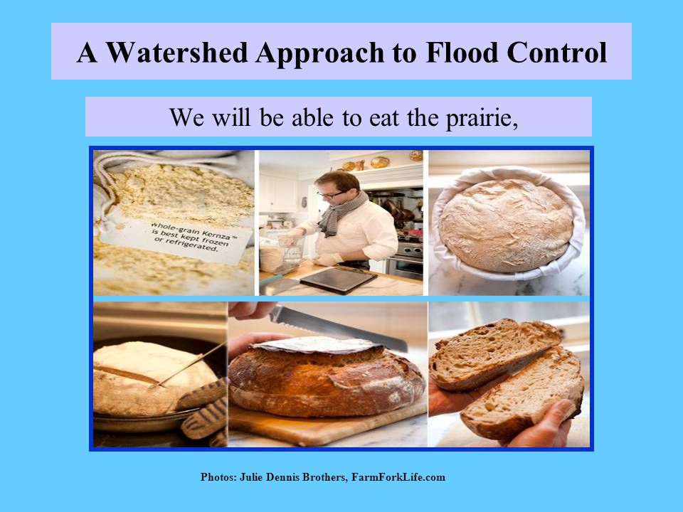 A Watershed Approach to Flood Control We will be able to eat the prairie, Photos: Julie Dennis Brothers, FarmForkLife.com