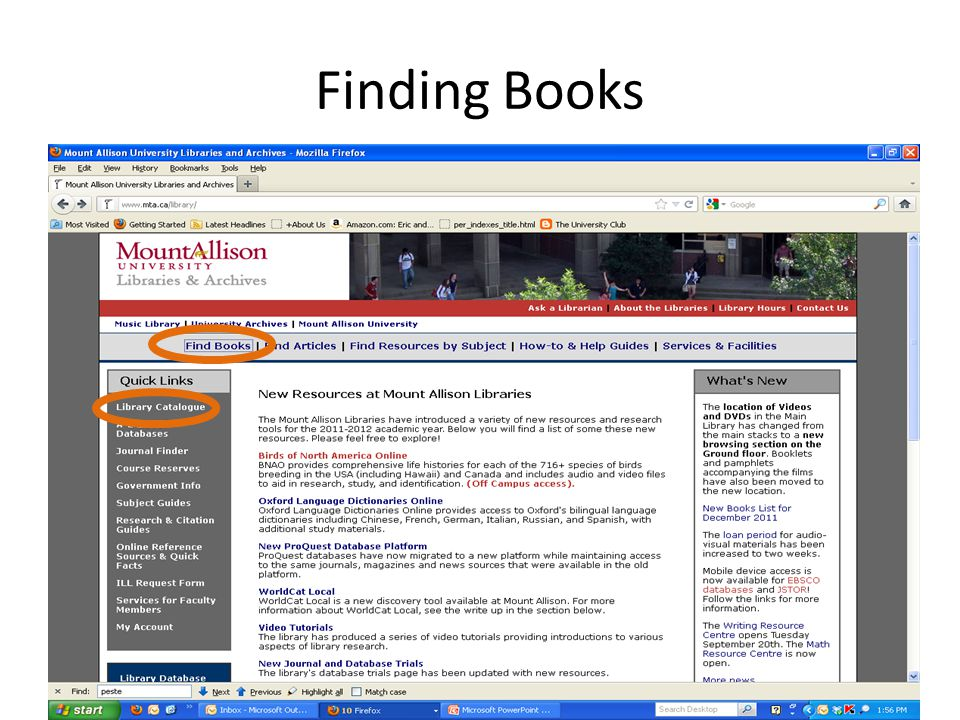 To Find out if the Library has a Particular Journal