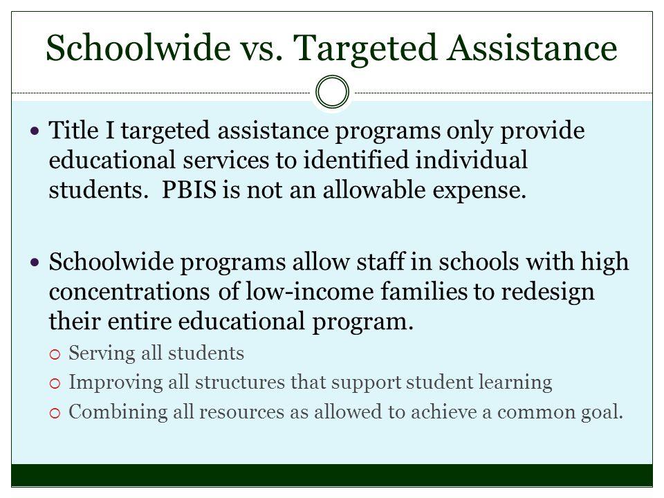Schoolwide vs.