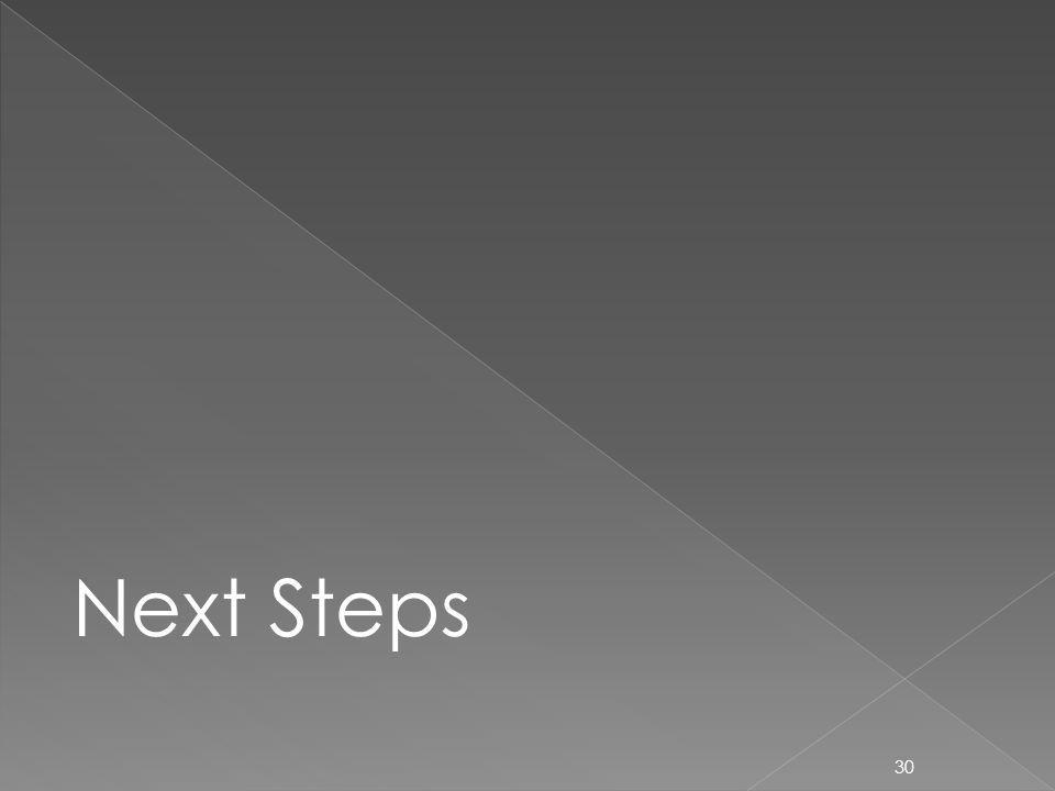 30 Next Steps