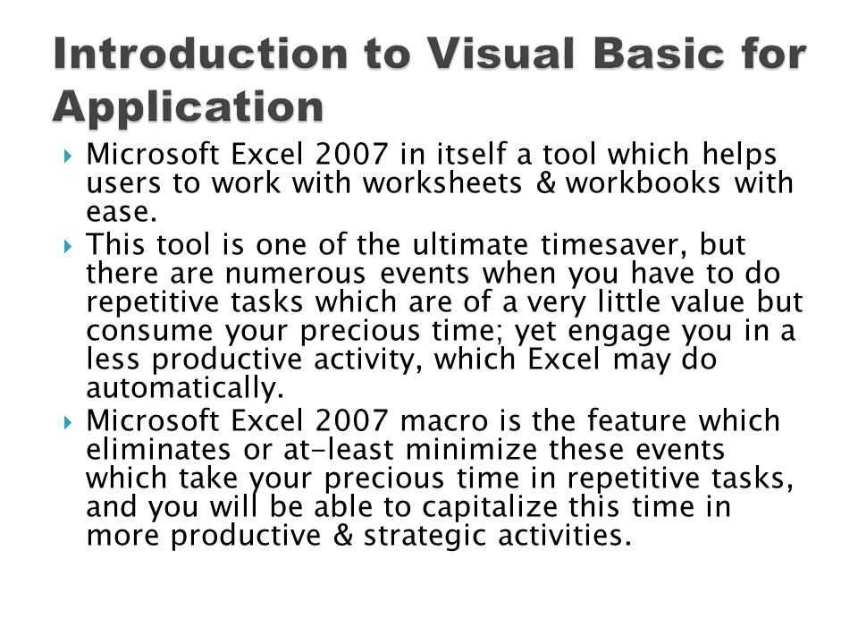As soon as you press OK in the previous dialog box two things happens first record macro button changes to Stop Recording Secondly Excel starts looking for your action and will record the same Please follow steps on the following slide to complete recording