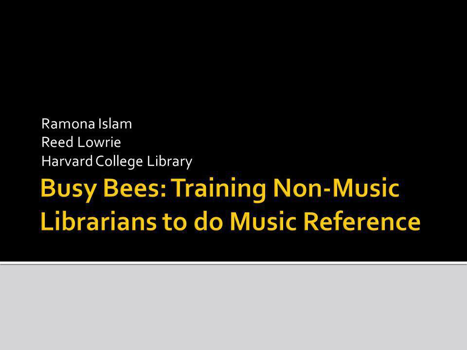 Ramona Islam Reed Lowrie Harvard College Library