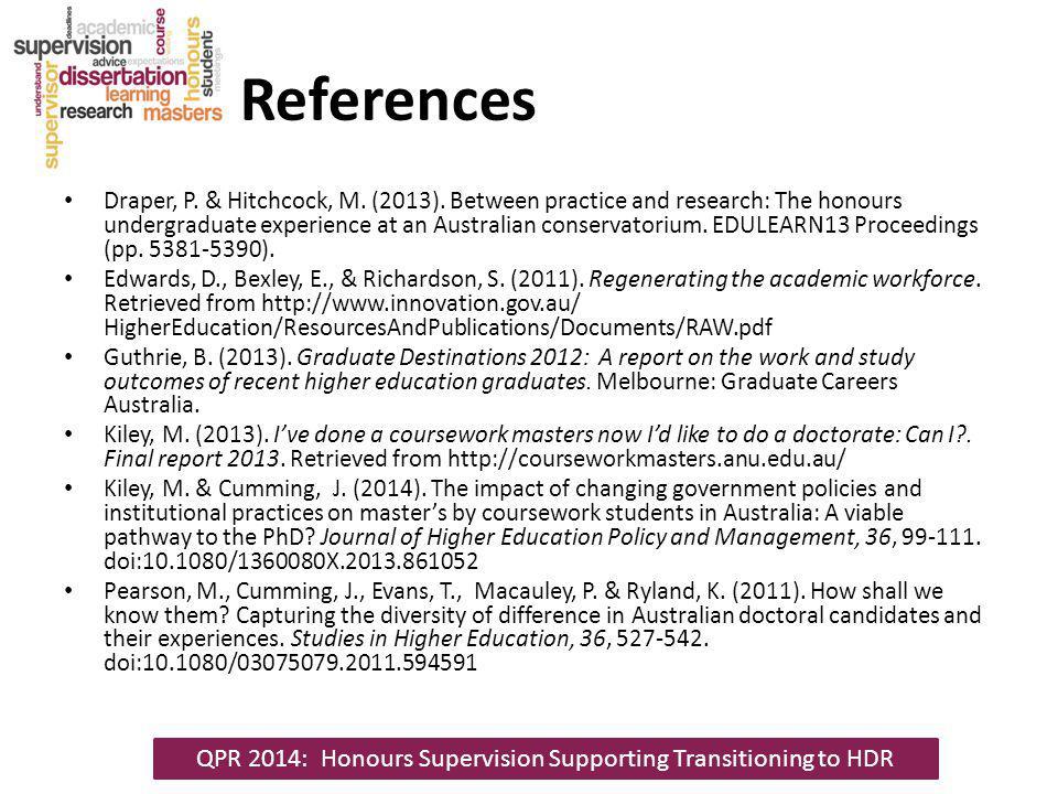 References Draper, P. & Hitchcock, M. (2013).
