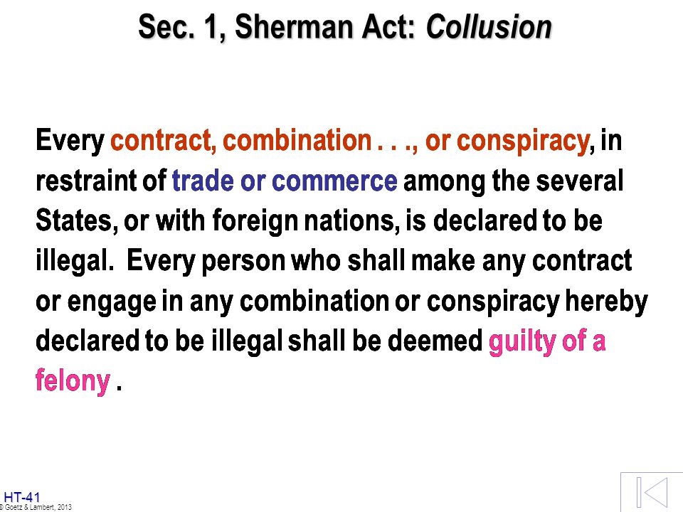 Principal Antitrust Statutes Treated Sec. 2 Sherman Act: Monopolization Sec. 2 Sherman Act: Monopolization Sec. 7 Clayton Act Sec. 7 Clayton Act Antic