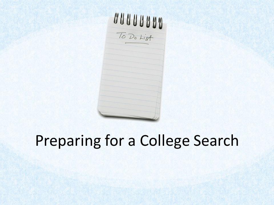 Preparing for a College Search