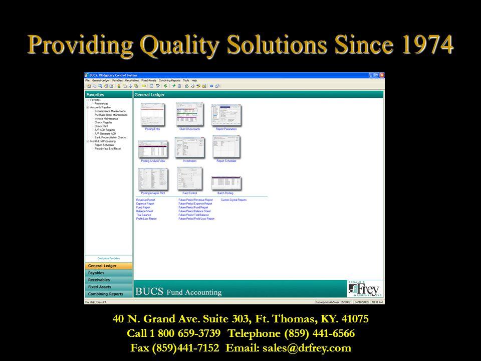40 N. Grand Ave. Suite 303, Ft. Thomas, KY. 41075 Call 1 800 659-3739 Telephone (859) 441-6566 Fax (859)441-7152 Email: sales@drfrey.com Providing Qua