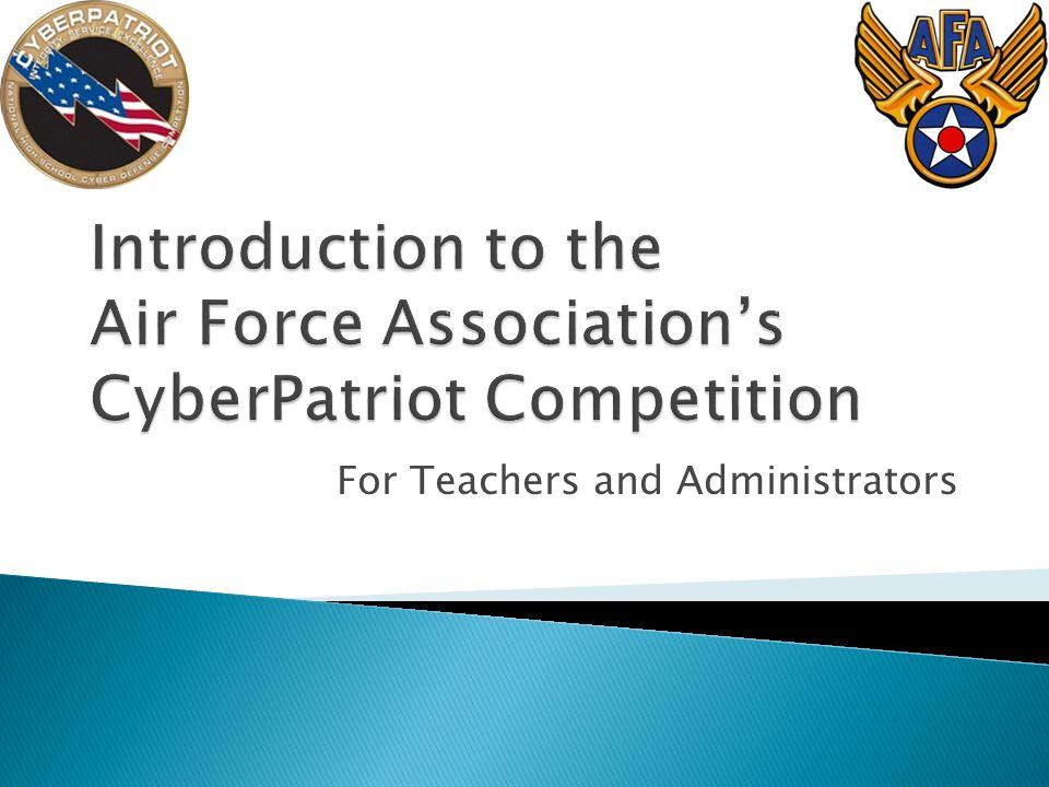 A nation-wide computer network defense competition for high school students All schools are eligible: o Public o Private o Charter o Parochial o Home o Overseas military Two Divisions o All Service for Junior ROTC and Civil Air Patrol cadets o Open for all other students and mixed (cadet + non-cadet) teams o Up to 2,500 teams in each Division 2