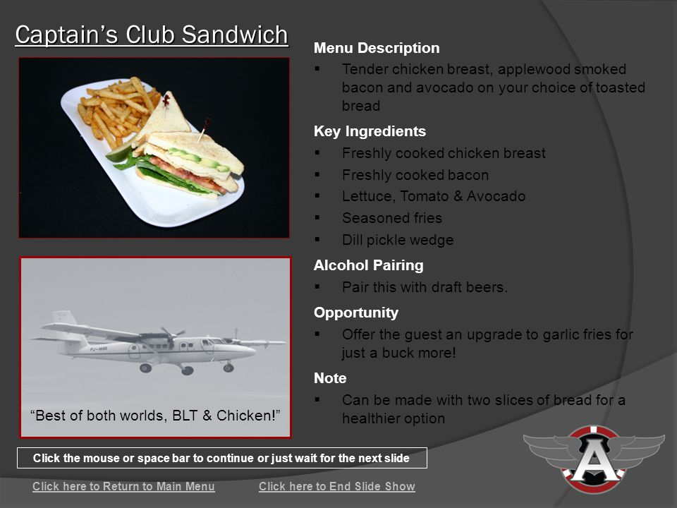 Captains Club Sandwich