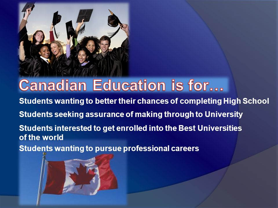 Students wanting to better their chances of completing High School Students seeking assurance of making through to University Students wanting to pursue professional careers Students interested to get enrolled into the Best Universities of the world