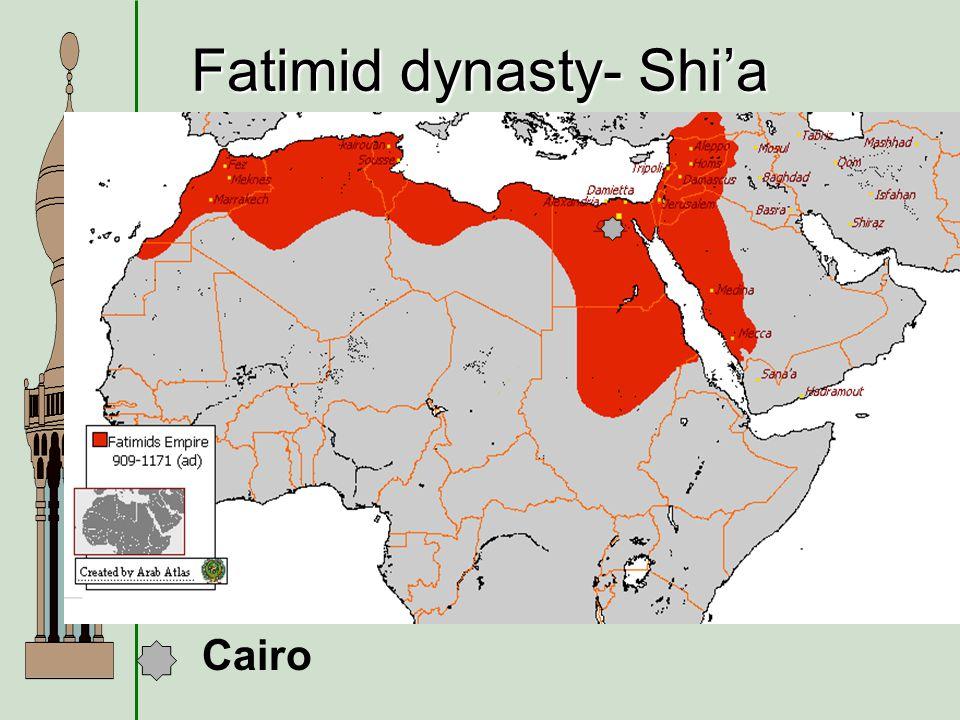 Fatimid dynasty- Shia Cairo