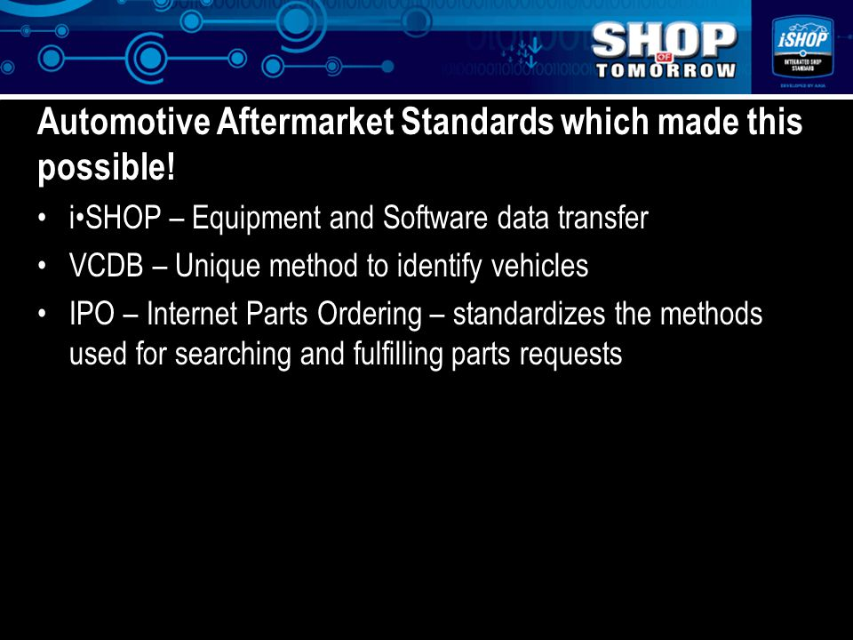 z Automotive Aftermarket Standards which made this possible.