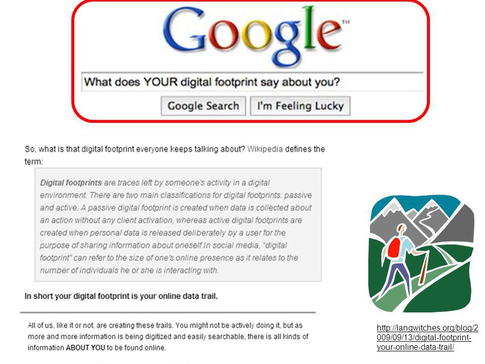 http://langwitches.org/blog/2 009/09/13/digital-footprint- your-online-data-trail/