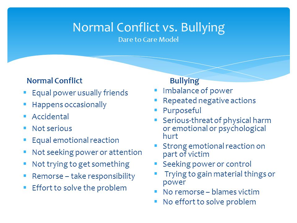 Normal Conflict vs.