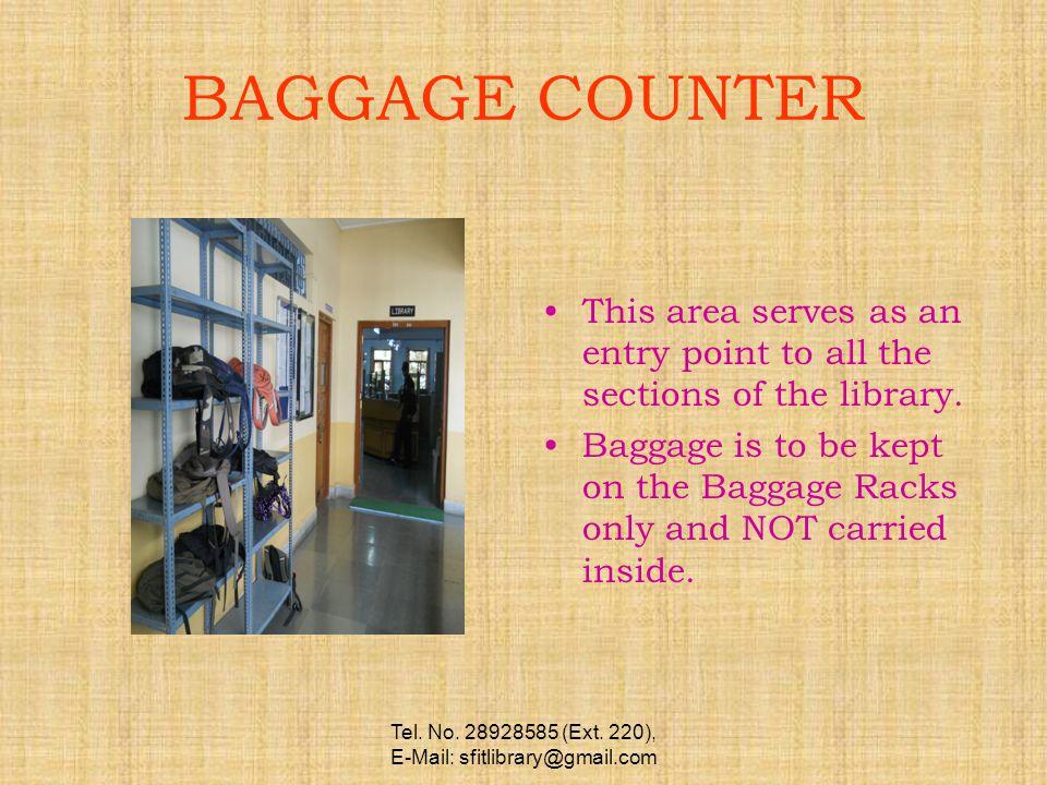 BOOK BANK FACILITY Tel. No. 28928585 (Ext. 220), E-Mail: sfitlibrary@gmail.com