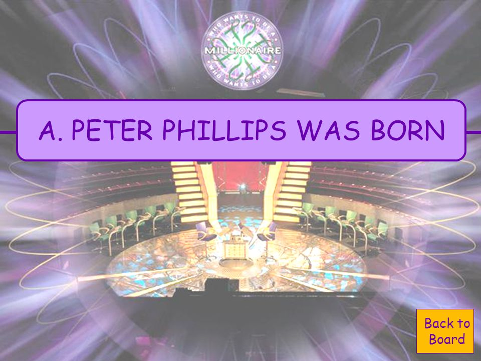 Back to Board A. PETER PHILLIPS WAS BORN