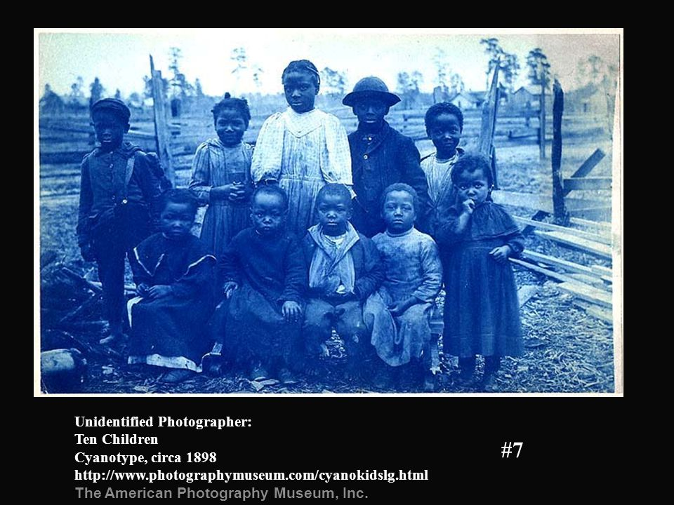 Unidentified Photographer: Ten Children Cyanotype, circa 1898 http://www.photographymuseum.com/cyanokidslg.html The American Photography Museum, Inc.