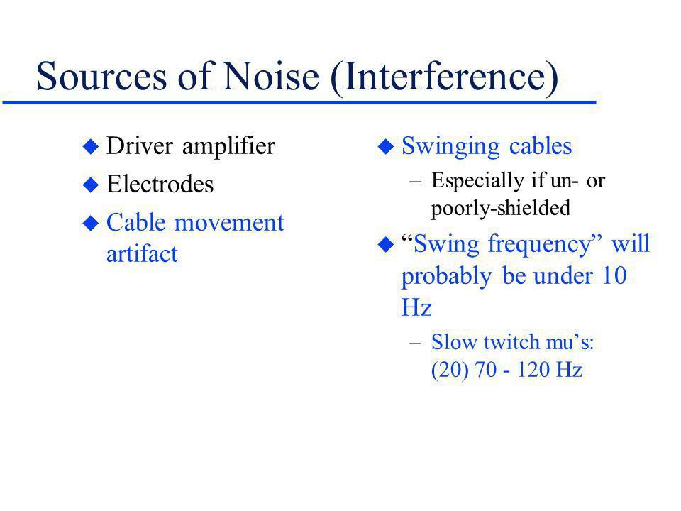 Selecting the Sampling Rate The Two Times Rule u Analyze the signal (or movement) and determine the highest possible operating frequency –Example: motor unit frequency range = (10) 70 - 250 Hz u Double the top rate –Sampling rate: 250 Hz x 2 = 500 Hz ~ 1000Hz