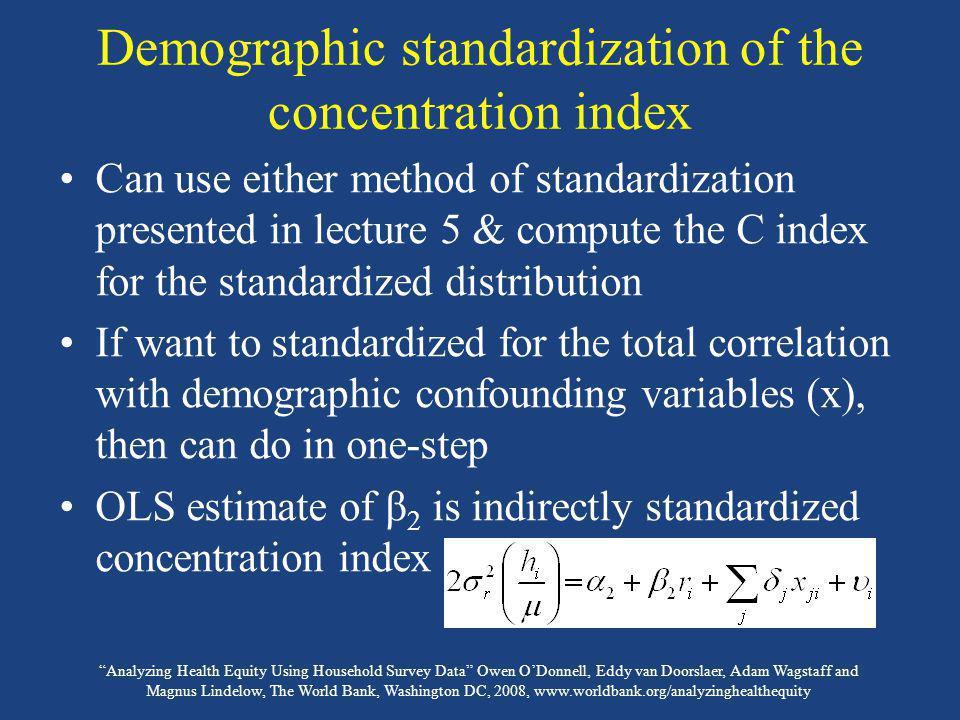 Analyzing Health Equity Using Household Survey Data Owen ODonnell, Eddy van Doorslaer, Adam Wagstaff and Magnus Lindelow, The World Bank, Washington D
