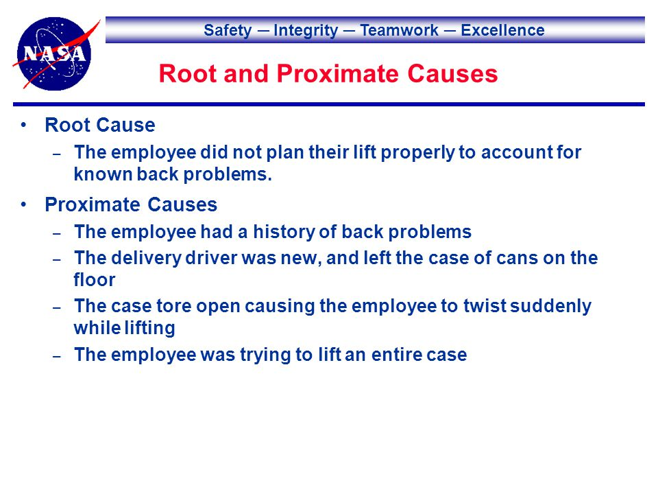 Safety Integrity Teamwork Excellence Lessons to Share When planning work, employees may need to consider preexisting conditions or injuries to prevent aggravating or worsening the injury.