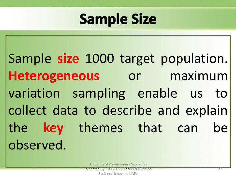 37 Sample size 1000 target population.