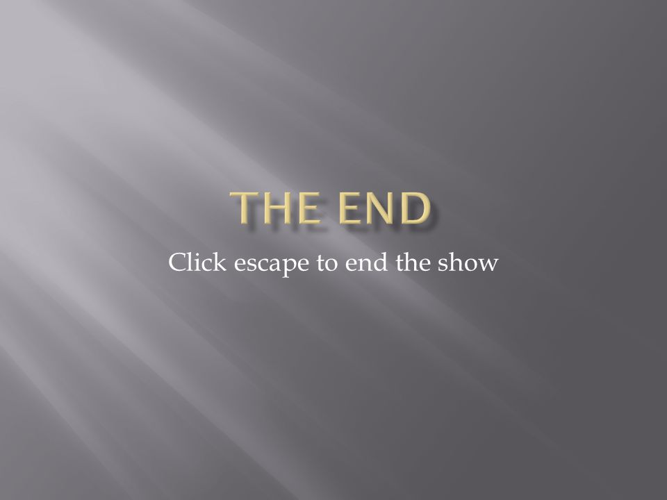 Click escape to end the show