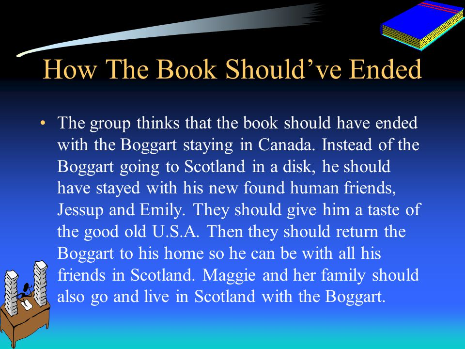 Flow Chart 1.The MacDevon Dies, the Volnik family inherits a castle in Scotland. 2.The Volnik family travels to Scotland and meets Tommy Cameron and v