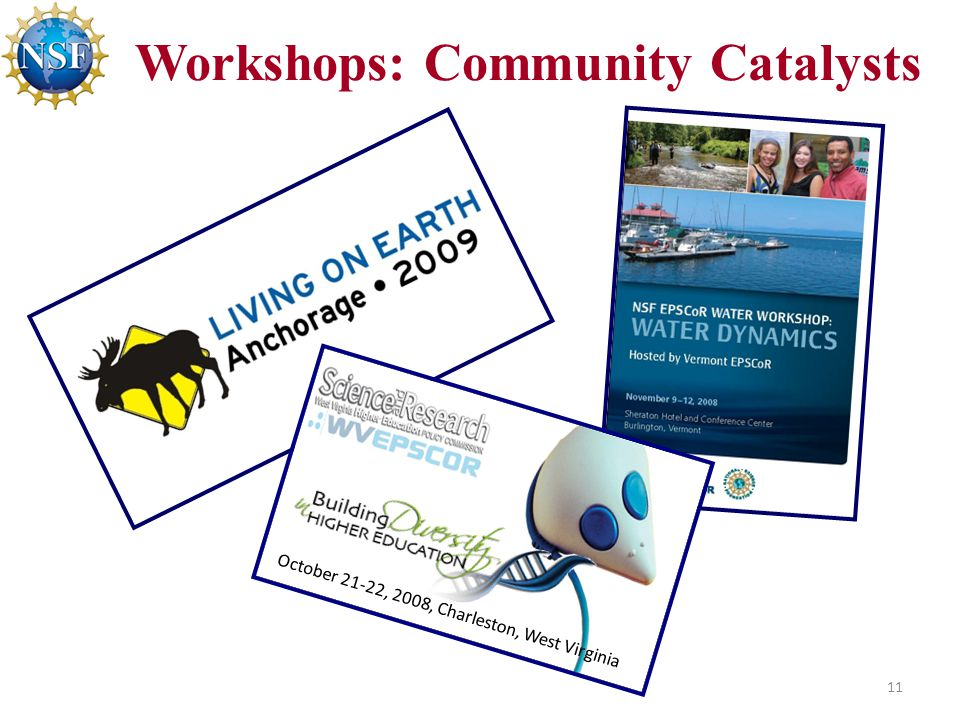 11 Workshops: Community Catalysts October 21-22, 2008, Charleston, West Virginia