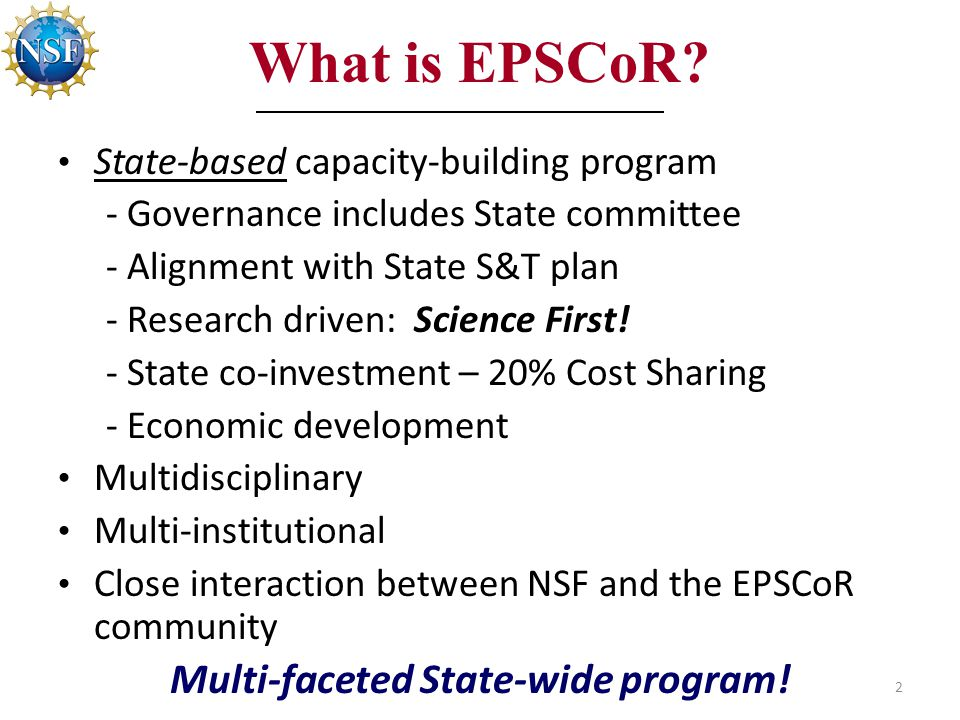 What is EPSCoR.