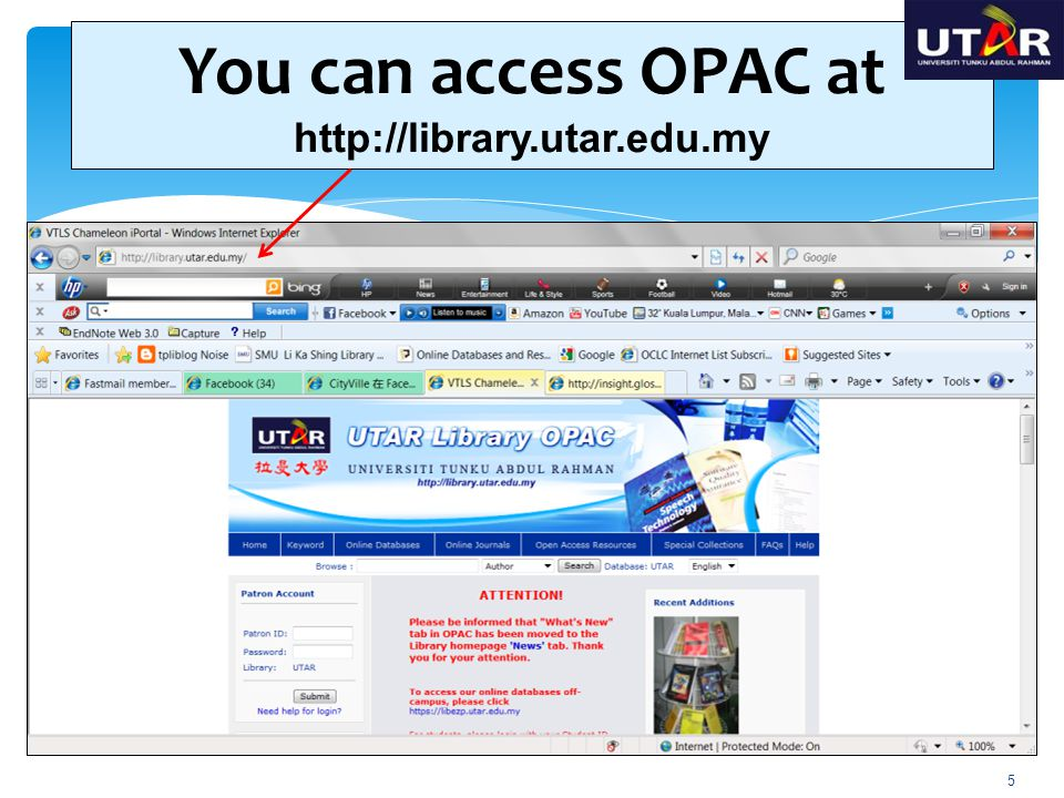 What can be done by OPAC .