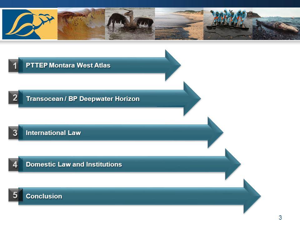 3 11 PTTEP Montara West Atlas PTTEP Montara West Atlas 22 Conclusion Conclusion 33 Transocean / BP Deepwater Horizon Transocean / BP Deepwater Horizon