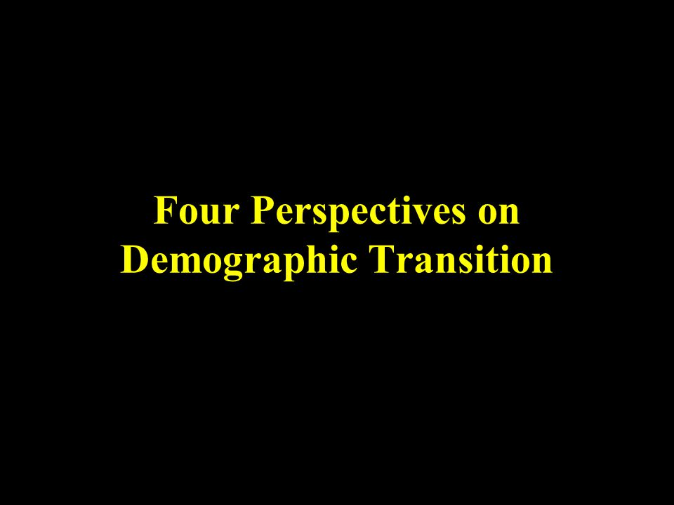 Four Perspectives on Demographic Transition