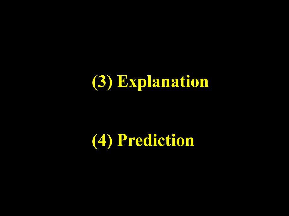 (3) Explanation (4) Prediction
