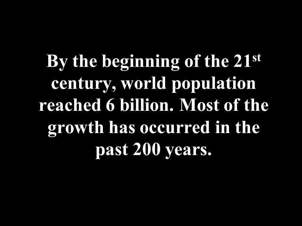 Population Explosion Why was Malthus unable to foresee the population explosion (also known as the population bomb)?population bomb He did not recognize the force of the Industrial Revolution, which produced exponential growth in the means of subsistence.