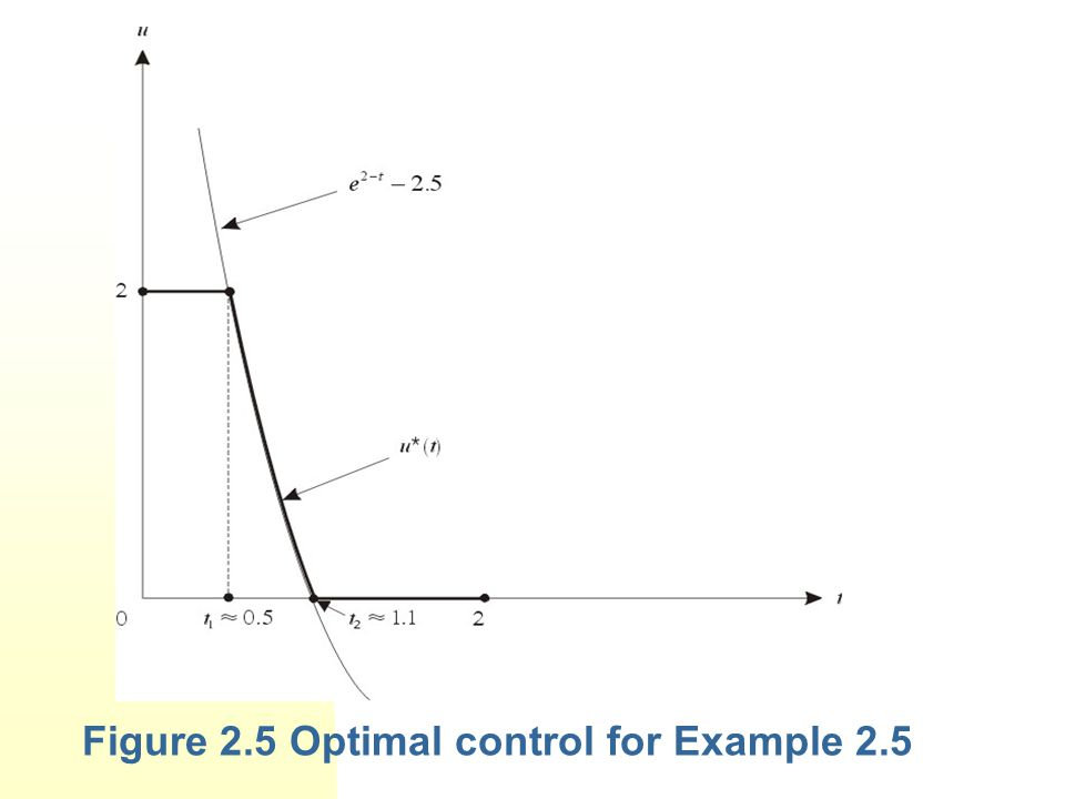 Figure 2.5 Optimal control for Example 2.5