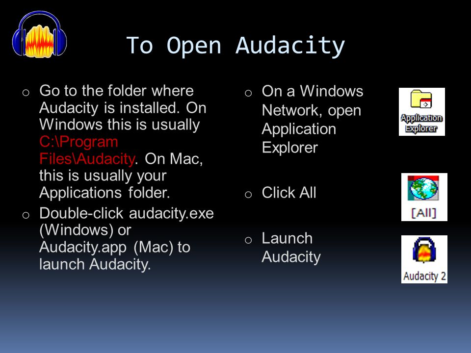 Audacity How To Have Fun With Sound by Audacitydemo This presentation is licensed under the Creative Commons Attribution 3.0 License. http://creativec