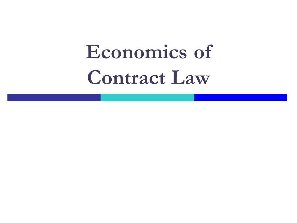 Economics of Contract Law