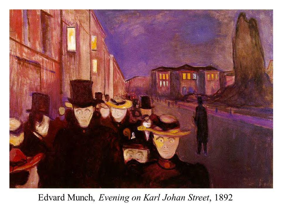 Edvard Munch, Evening on Karl Johan Street, 1892