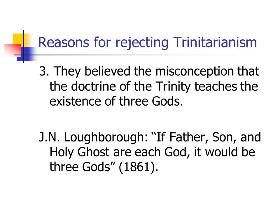Reasons for rejecting Trinitarianism 4.