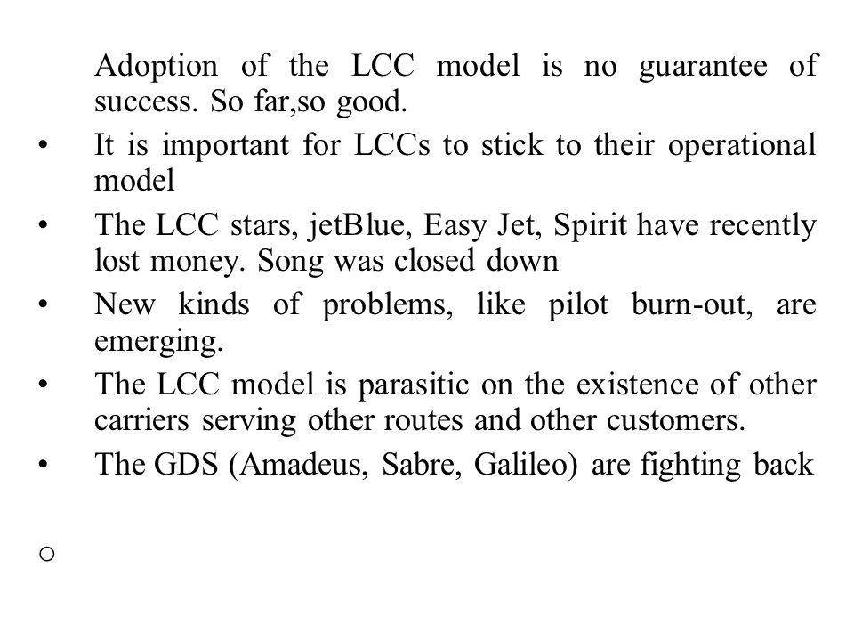 The European airline industry, mostly because of the LCCs, have done better than US carriers. Asian airlines (high volume, low wages, expanding econom