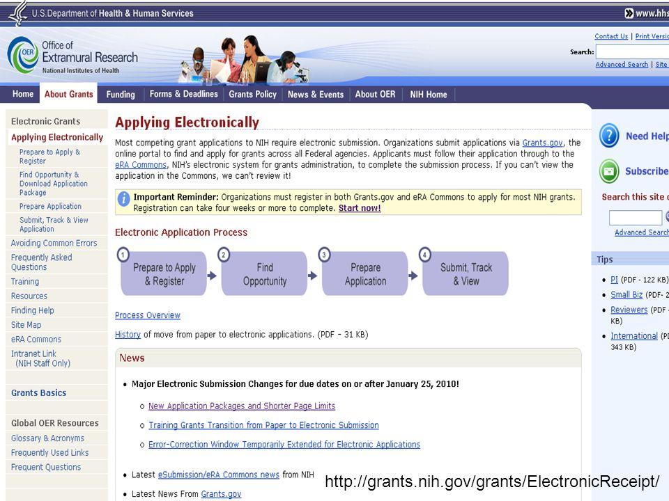 OPERA http://grants.nih.gov/grants/ElectronicReceipt// http://grants.nih.gov/grants/ElectronicReceipt/